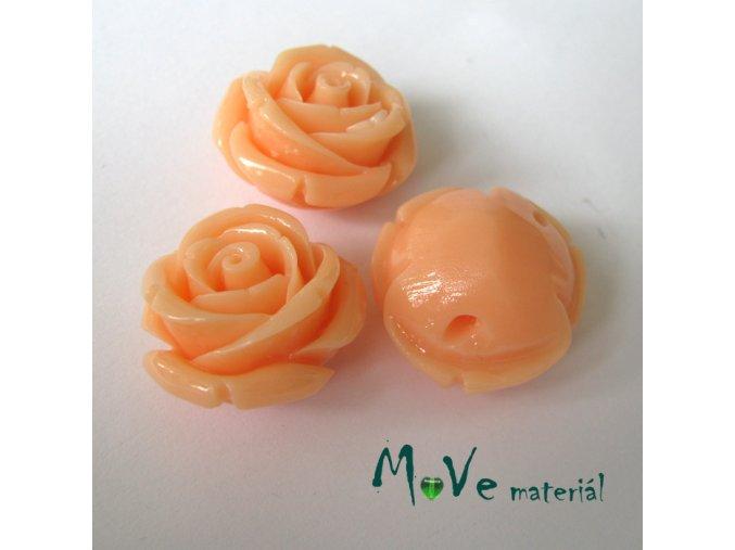 Resinový korálek RŮŽE, 1ks, meruňková