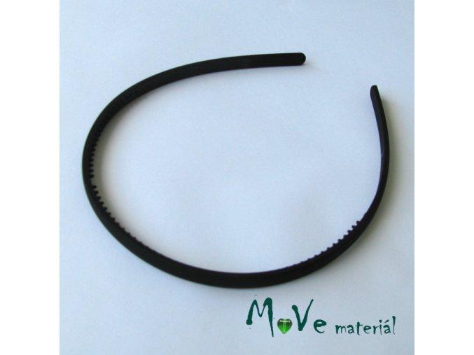 Čelenka jednoduchá plastová černá, 7mm
