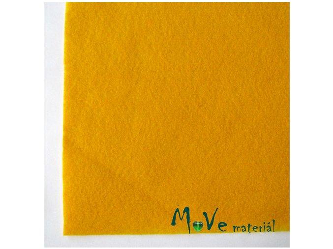 Plsť (filc) 20x30cm, 1ks, žlutá