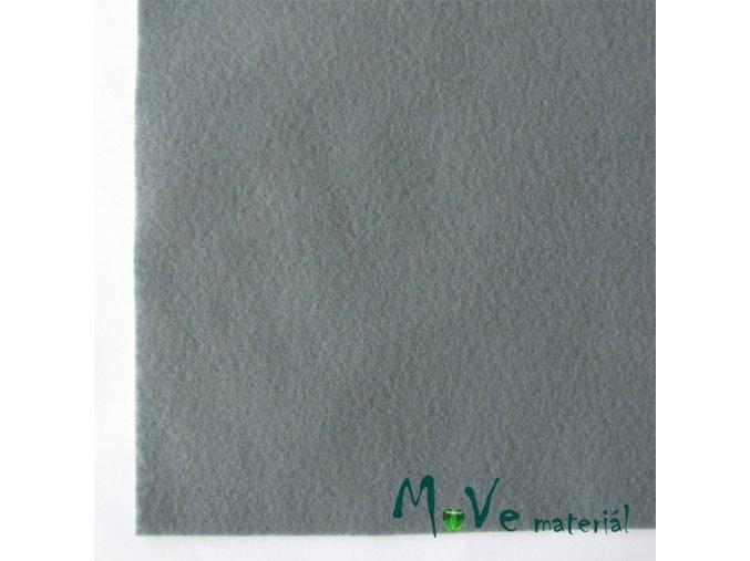 Plsť (filc) 20x30cm, 1ks, šedá