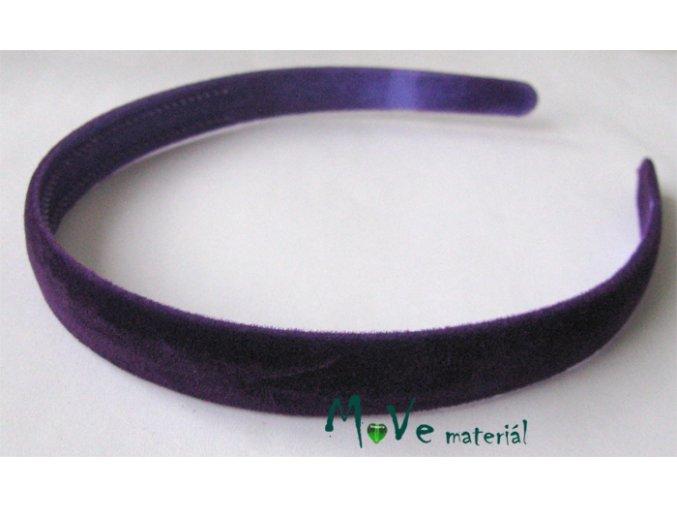 Čelenka sametová jednoduchá fialová