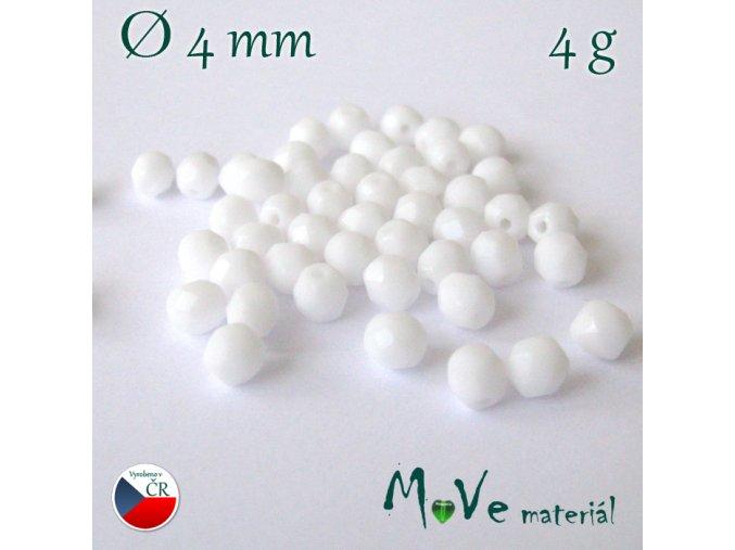 České ohňovky 4mm/4g, bílé
