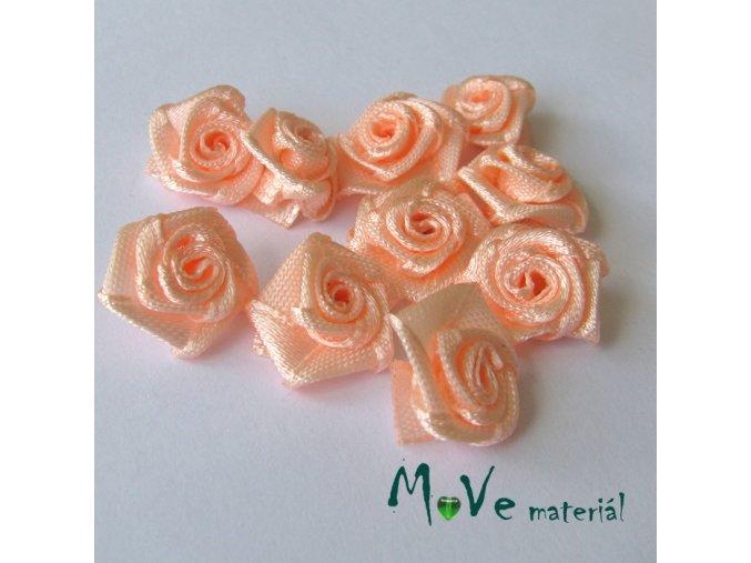 Růžička saténová12mm, 10kusů, lososová