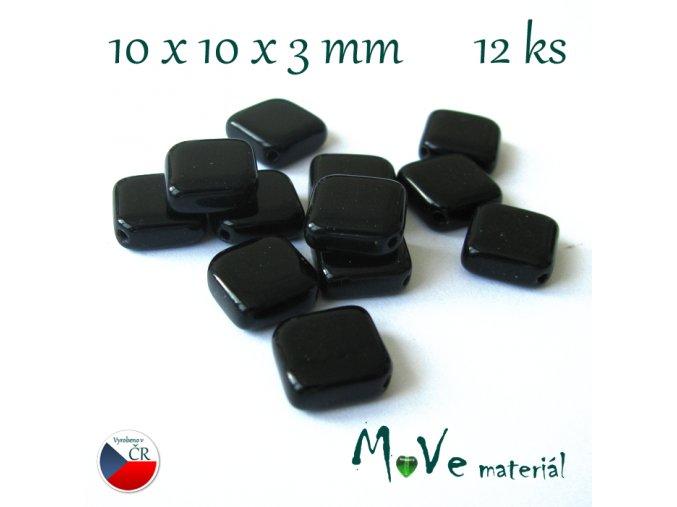 České skleněné kosočtverce 12ks, černé