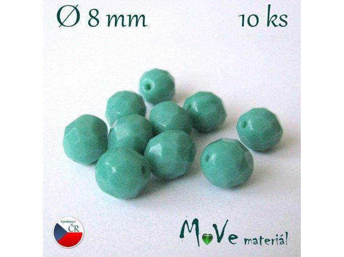 České ohňovky 8mm, 10ks, tyrkysové