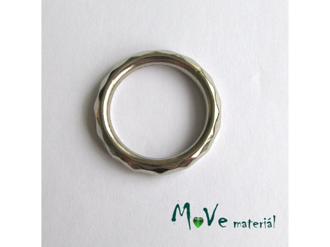 Plastový kroužek 28mm, 4ks, platina