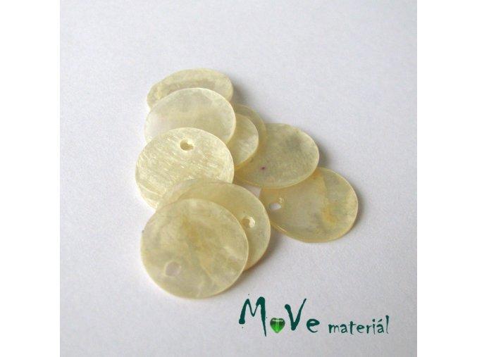 Perleťové penízky 13mm, 10ks, bílé