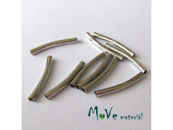 Korálek kovový 20x2mm trubička, 10ks