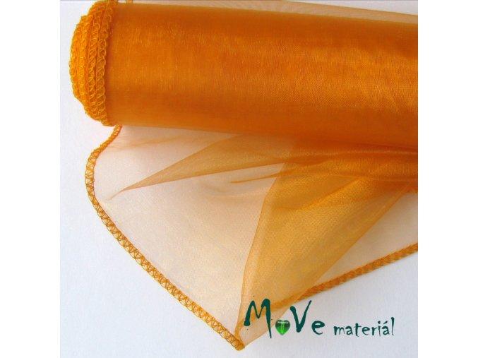 Organza oranžová š. 35 cm/ 1m