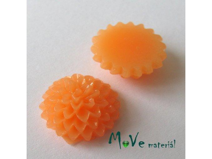 Kabošon B6 astra - resin - 2ks, oranžový