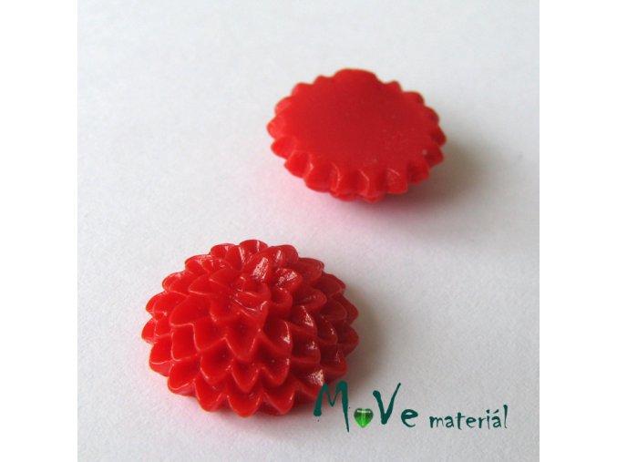 Kabošon B6 astra - resin - 2ks, červený