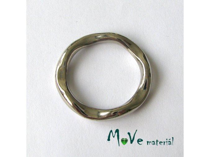 Plastový kroužek 32mm, 2ks, platina
