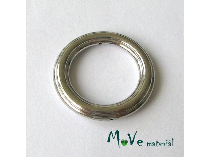 Plastový kroužek 44x6mm, 1ks, platina