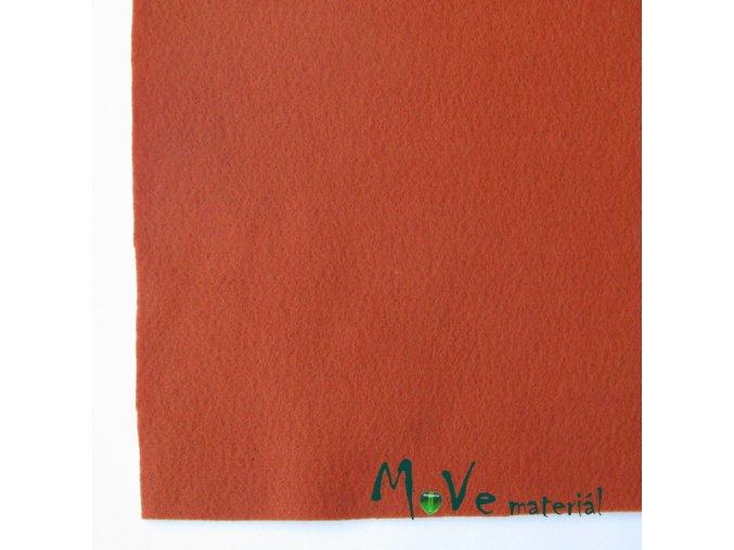 Plsť (filc) 20x30cm, 1ks, rezavá