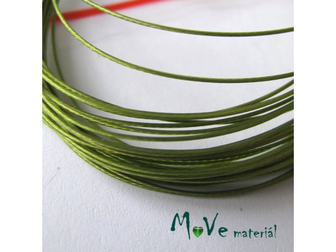 Nylonové lanko 0,45mm, 5m, olivové