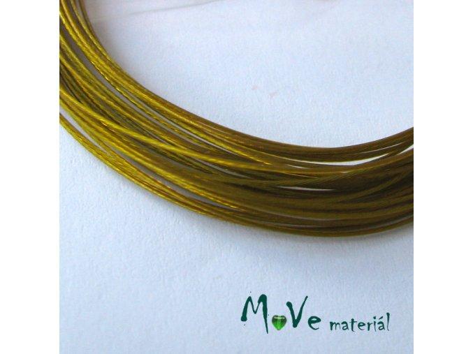 Nylonové lanko 0,45mm, 2,5m, zlaté