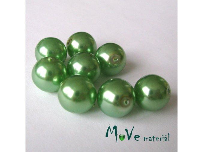 České voskové perle zelené 12mm 8ks (cca 20g)