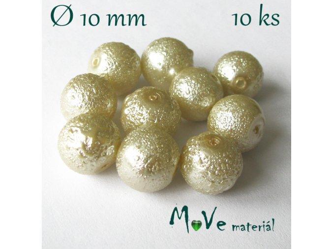 "Voskové perle ""Zigana"" 10mm, 10ks, sv. béžové"