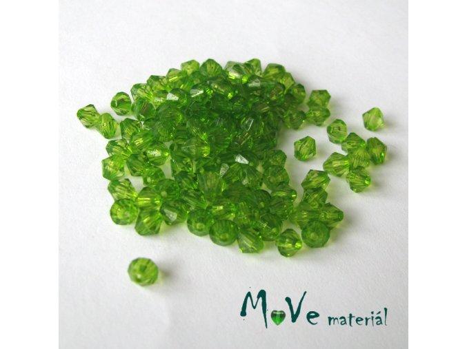 Korálek plast - sluníčko 5mm, cca 120ks, zelený