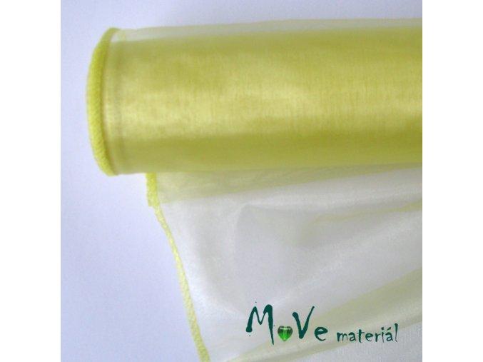 Organza světle žlutá š. 35 cm/ 1m