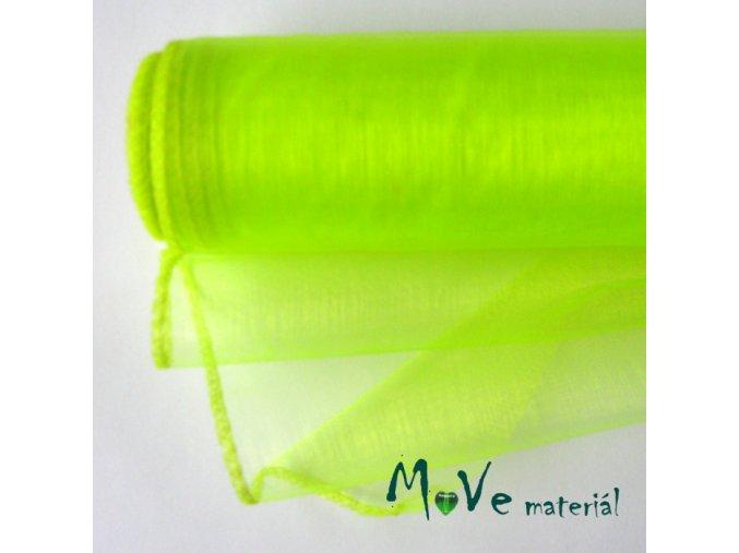 Organza reflexní zelená š. 35 cm/ 1m
