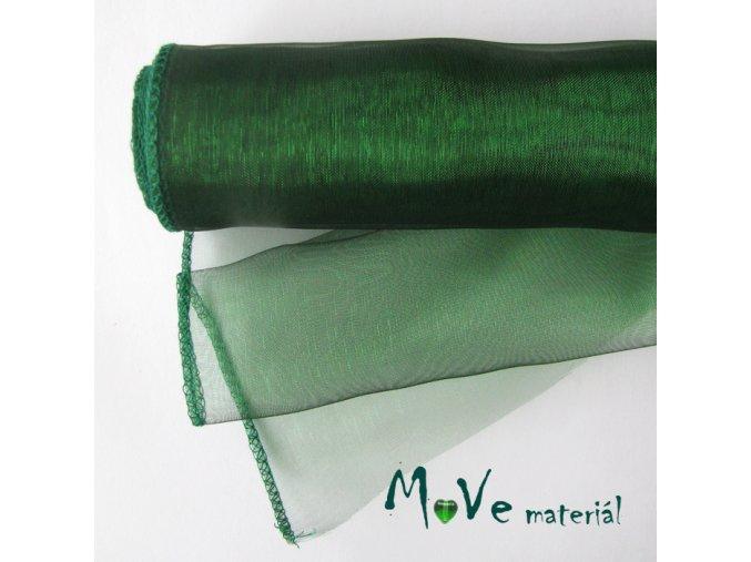 Organza lahvově zelená š. 35 cm/ 1m
