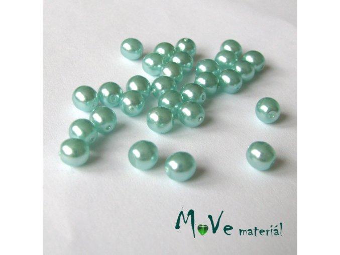České voskové perle sv. tyrkys 5mm, 30ks (cca 5g)