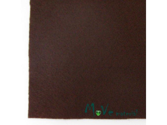 Plsť (filc) 20x30cm, 1ks, čokoládová