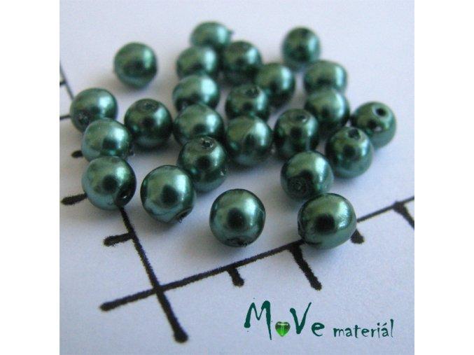 České voskové perle zelené 4mm, 30ks