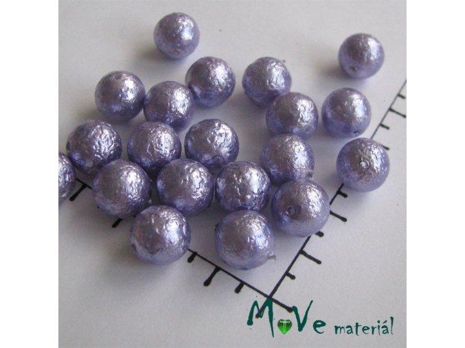 České voskové perle fialové 10mm, 16ks