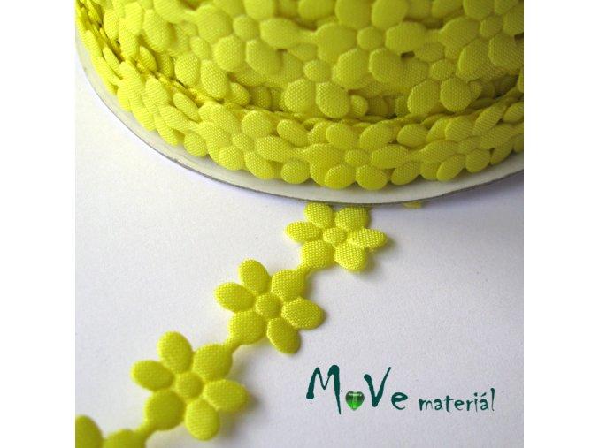 Aplikace květinky žlutá - šíře 10mm, 1m
