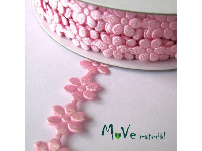 Aplikace květinky růžová - šíře 10mm, 1m