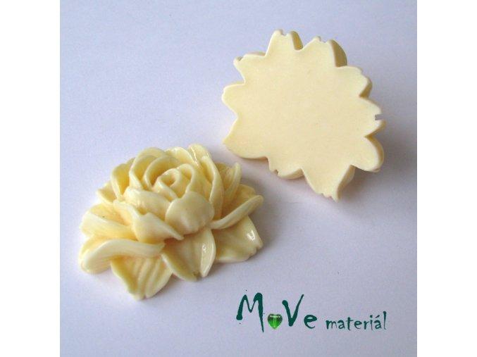 Kabošon lesklý K1 - resin - 1ks, vanilkový