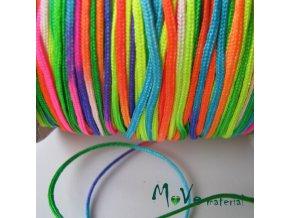 Nylonová pletená šňůra - 1mm/1m, duhová