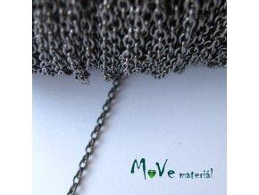 Řetízek kovový - délka 1m, antracit