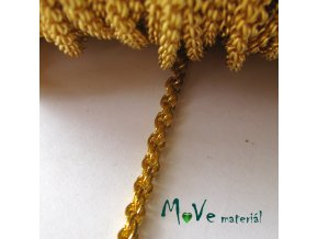 Řetízek kovový 3x2mm,1m, zlatý, II.jakost