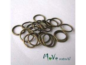 Spojovací kroužek průměr 10mm, 20ks, staromosaz
