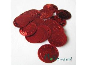 """Plastový penízek """"Centurion"""" 18x22mm/20ks, červený"""