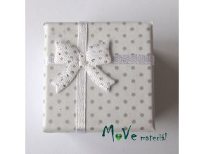 Krabička papírová na prstýnek 40x40x30mm, bílá