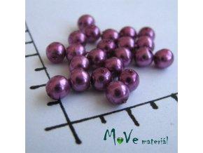 České voskové perle růžovofialové 4mm, 30ks