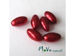 České voskové perle olivka 6ks, červená