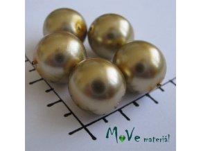 České voskové perle zlaté 14mm, 6ks