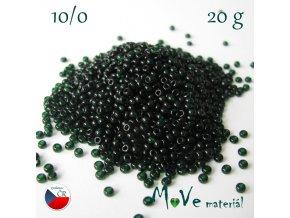 Český rokajl zelený 10/0, 20 g