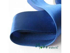 Šikmý proužek saténový šíře 30mm zažehlený modrý