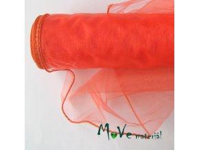 Organza neonově oranžová š. 36 cm/ 1m