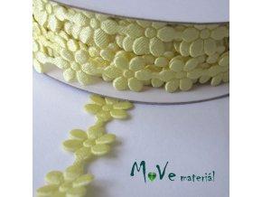 Aplikace květinky vanilková - šíře 10mm, 1m