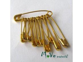 Spínací špendlíky 19-22-28mm zlaté