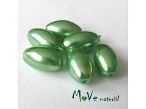 České voskové perle olivka 6ks, zelené