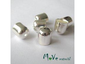 Kaplík 10x10mm hladký, 6ks, stříbrný