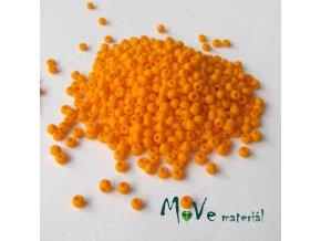Český rokajl oranžový matný cca 3mm/20g